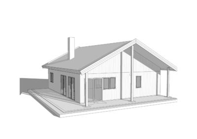 Hyttemodellen Uleberg uten hems